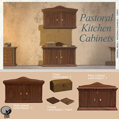 New release @ Petit Chat : Pastoral Kitchen Cabinet