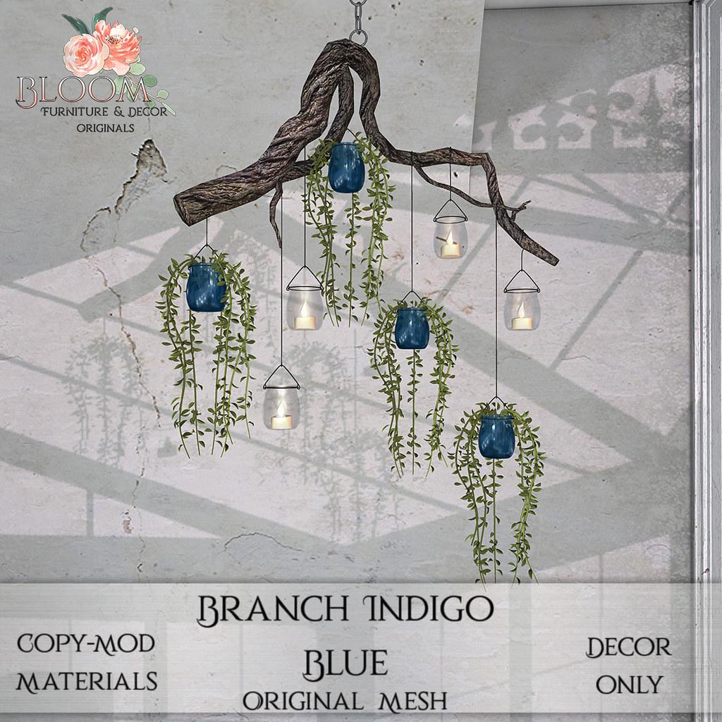 Bloom! Originals – Branch Indigo BlueAD