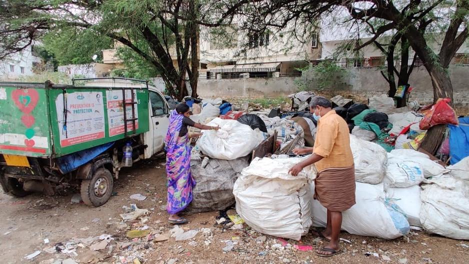 Slums in Hyderabad, India