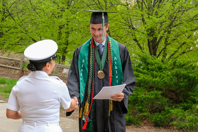 Ben Giles Navy Oath at UW-Green Bay Commencement Celebration