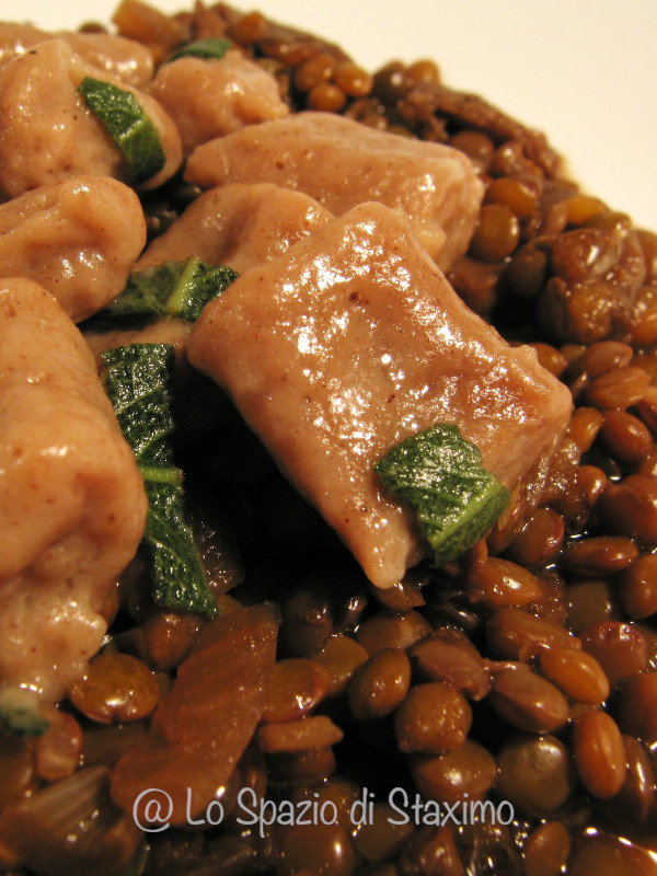 Zuppetta di Lenticchie e Gnocchi di Castagne