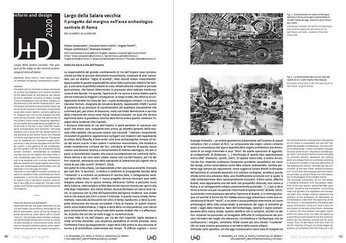 ROMA ARCHEOLOGICA & RESTAURO ARCHITETTERA 2021: Tempio Della Pacis & Il Nuovo 'Visitor Center' del Foro, 2014-21; in: O. Carpenzano, (2020) [= ITA. / ENG. PDF] & L. Scaroina (2014-15) [PDF]. Tempio della Pace (ca. 1930), Alvaro de Alvariis (2012).