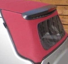 Folding roof canvas rear section in True Red Burgundy smart ForTwo Cabrio 450