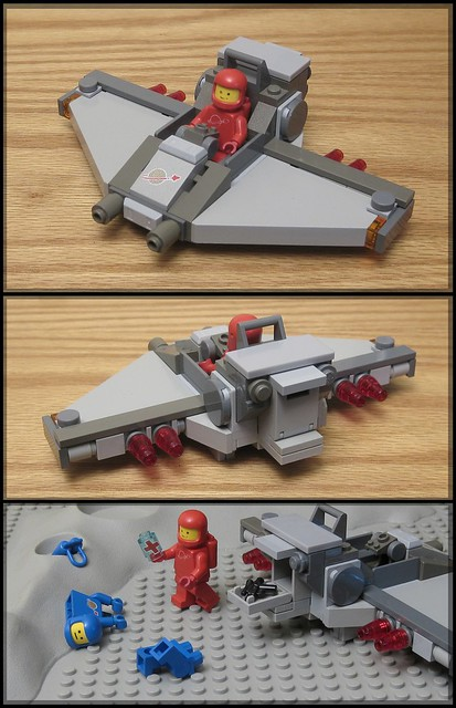 a man has been violently dismembered in lego spacecity