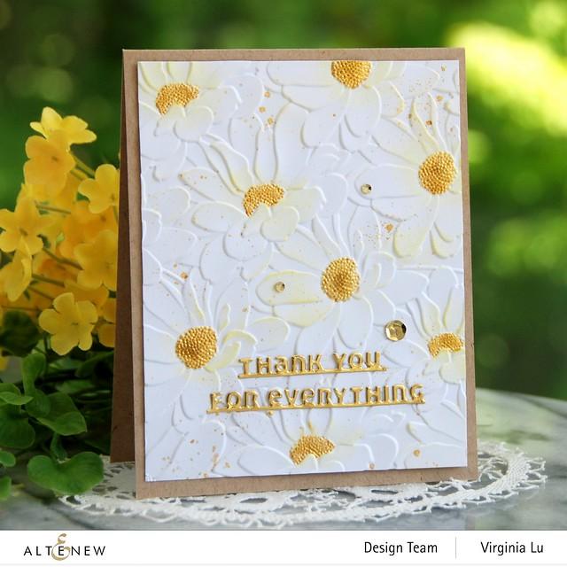 Altenew-DaisyBed 3D Embossing Folder-Slim Sentiment Die Set-Metallic Watercolor 14 Pan Set