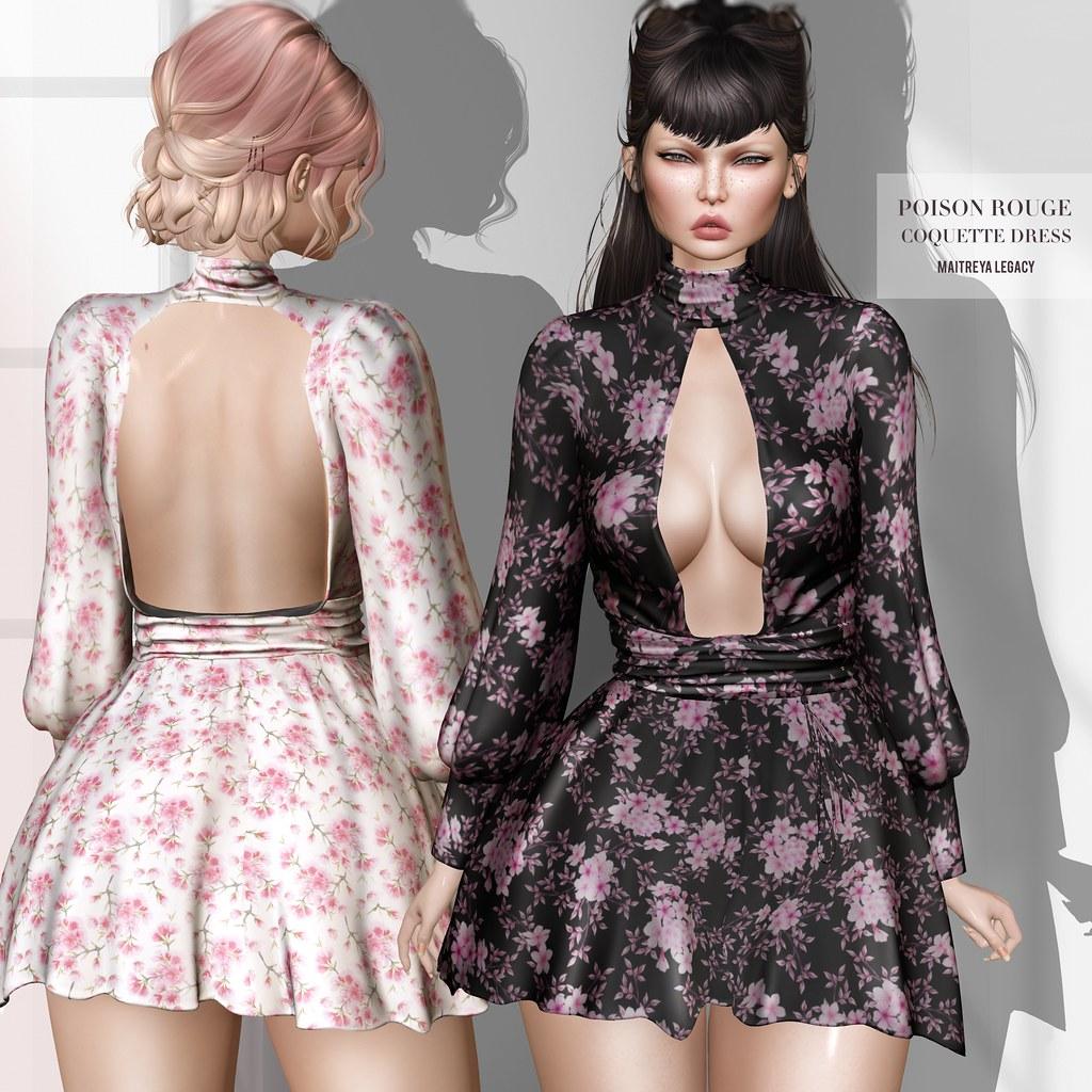 POISON ROUGE Coquette Dress @TRES CHIC