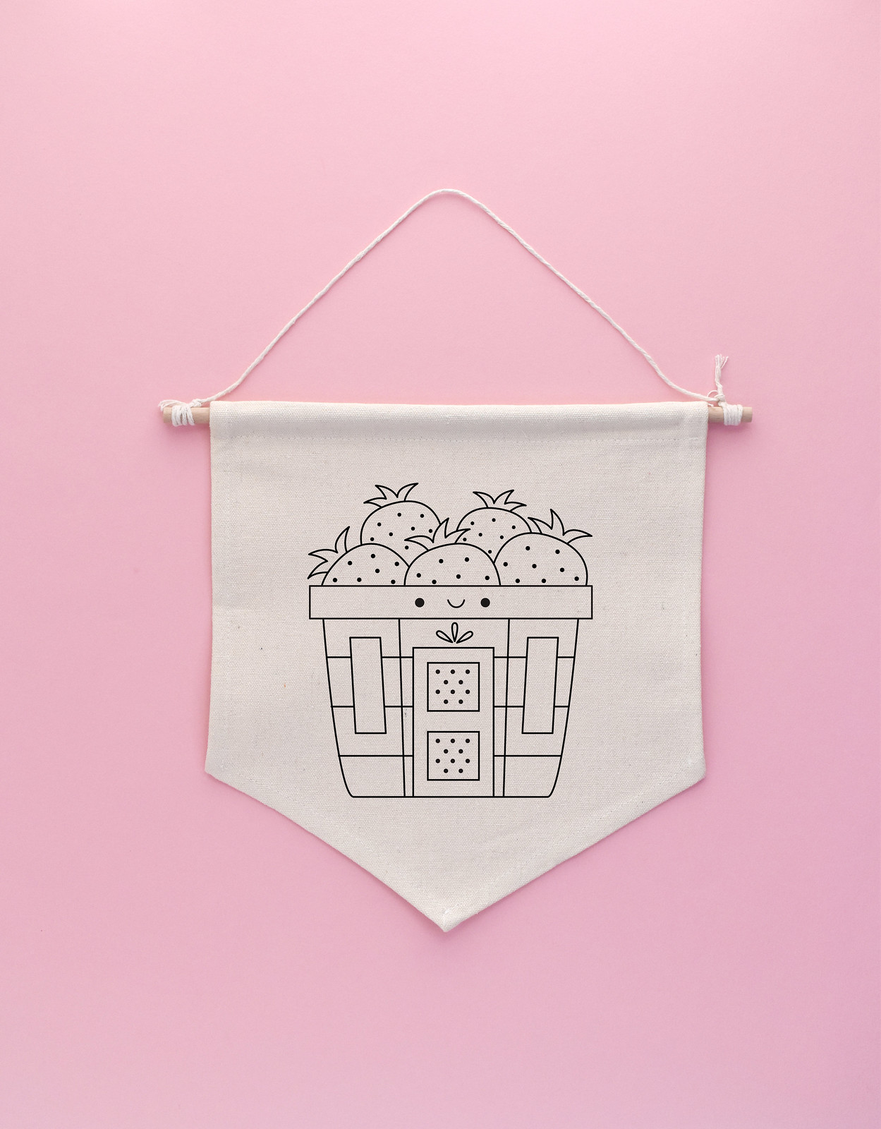 Sweet Strawberry House Embroidery Pattern
