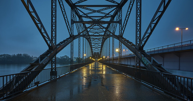 Blue Hour at Alte Harburger Elbbrücke
