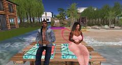 Con mi preciosa mujer te amo bb