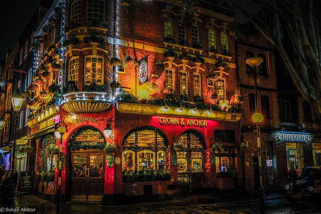 Crown & Anchor Pub in Covent Garden