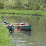 Canoes on the canal