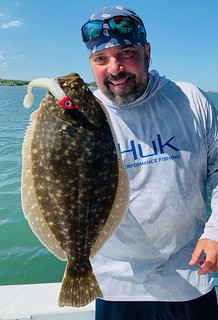 Rich Watts caught this fine-looking flounder near the airport recently. Photo by Rich Watts