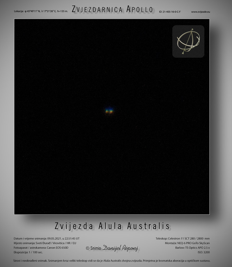 Alula Australis, 9.5.2021.