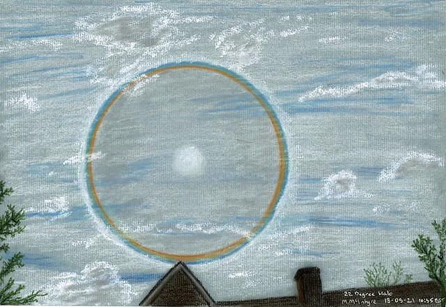 22 Degree Halo Pastel Sketch 18/05/21