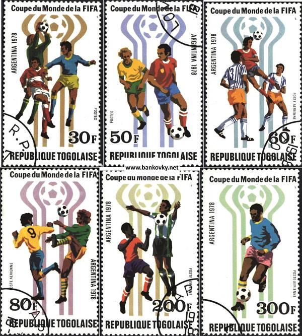 Známky Futbal MS Togo 1978 razítkovaná séria