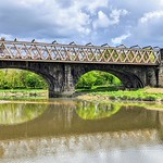 Bridge reflections on the Ribble at Preston