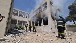 School Damaged by Hamas Rocket Fire in Ashkelon