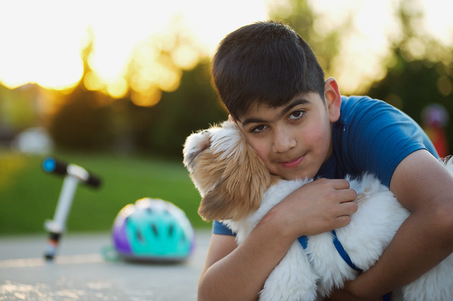 Boy and Pup