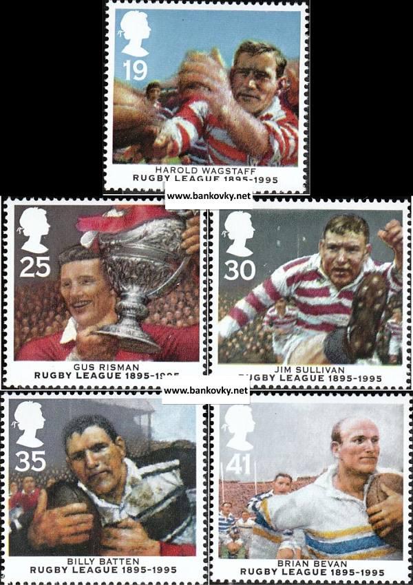 Známky V. Británia 1995 Rugby