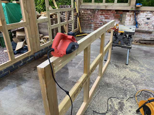 Reducing the size of a wall panel frame