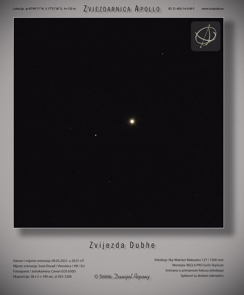 Zvijezda Dubhe, 9.5.2021.