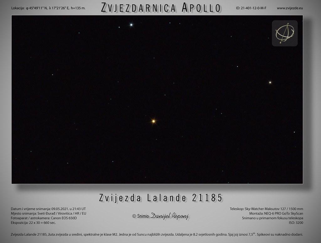 Zvijezda Lalande 21185, 9.5.2021.
