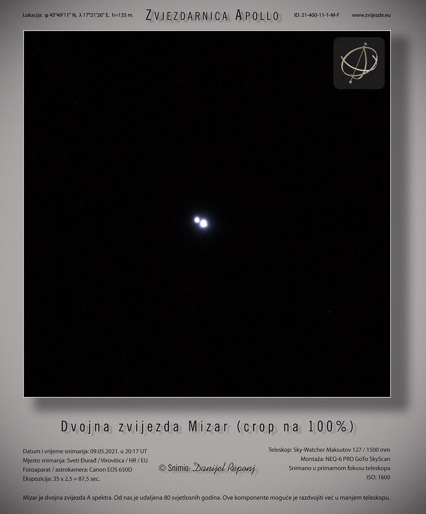 Dvojna zvijezda Mizar,