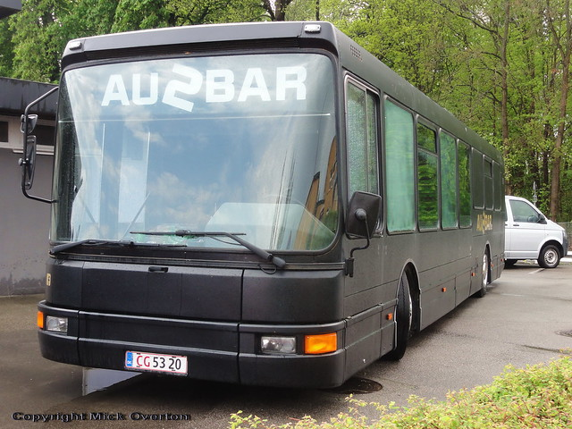 1995 DAB series 15 mark 2 MAN powered ex City Trafik 2030 has lasted 10 years longer than its sisters thanks to its new career first as a bar driven on dealer plates