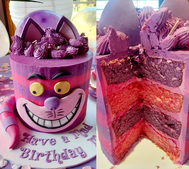 Happy Unbirthday Cheshire Cat Cake