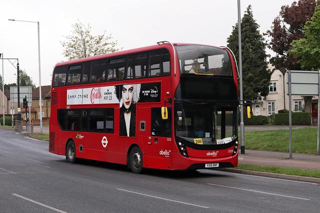 Route U7, Abellio London, 2529, YX15OWY
