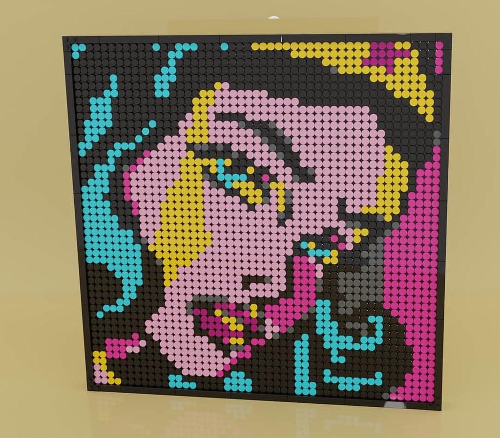 LEGO Art Wonder woman!! (Built using parts of LEGO set 31197)
