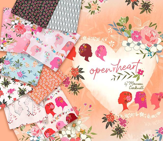 Art Gallery Fabrics Open Heart Collection by Maureen Cracknell
