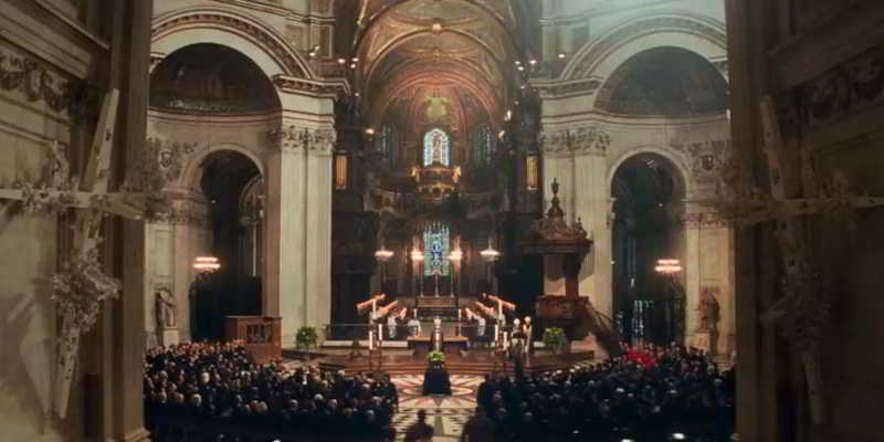 Filming in St Paul Cathedral
