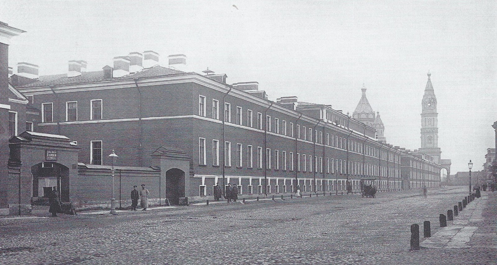 1896. Казармы лейб-гвардии Егерского полка