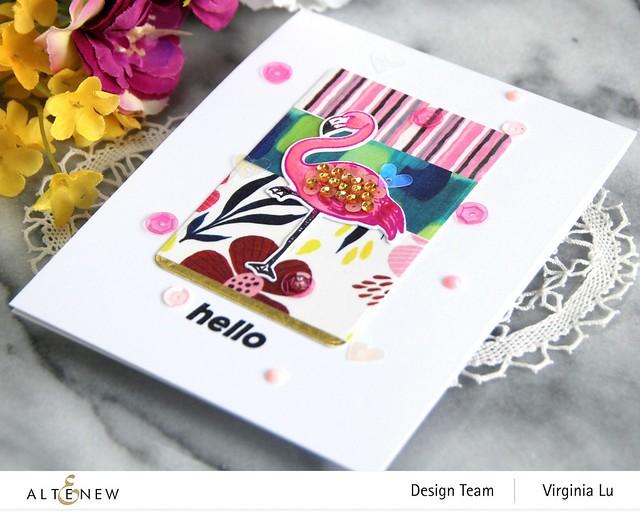 Altenew-Poised Flamingo Stamp & Die Bundle-Rounded Rectangles Die-Enjoy The Ride Washi Tape Set-001