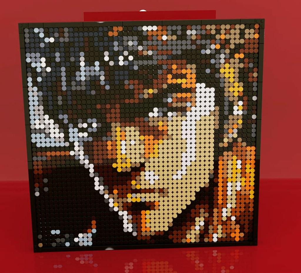 ケンシロウ の LEGO Art!! (Built using parts of LEGO set 31198)