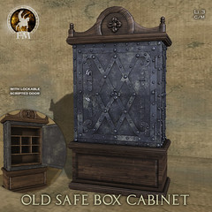 F&M * Old Safe Box Cabinet