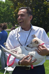 State Rep. Harry Arora takes a 'puppy break' from legislative session to meet with the CT Humane Society and some of their furry friends.