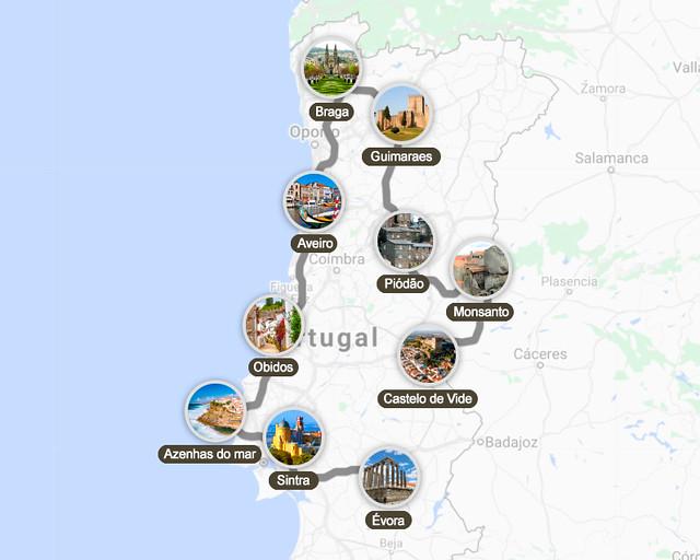 Itinerario por los pueblos de Portugal