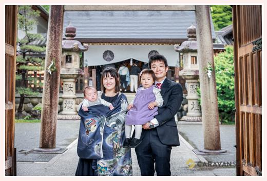 名古屋市の塩竃神社へ初宮参り 2021年4月