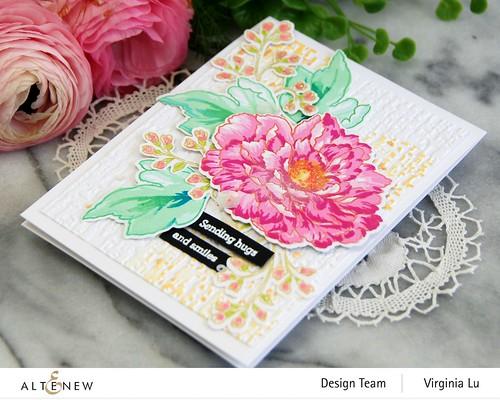 Altenew-BAF Tree Peony-Organic Linen 3D Embossing Folder-002