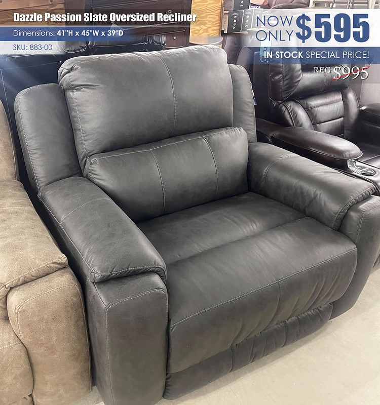 Dazzle Passion Slate Oversized Recliner_883-00Showroom