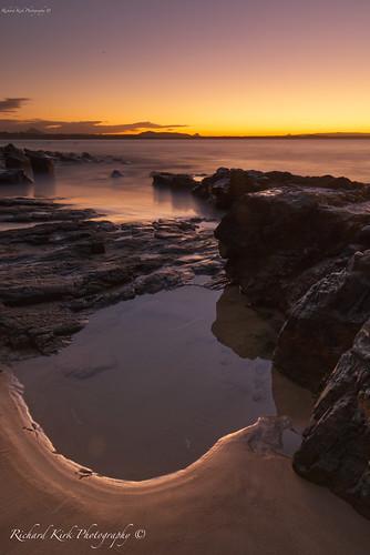 australia queensland noosa sunshinecoast bay longexposure canon rocks rockpool sea water sky horizon sunset goldenhour seascape landscape