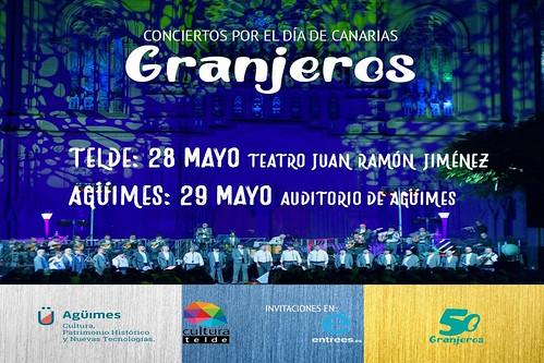 Cartel promocional del Concierto del Día de Canarias de Los Granjeros