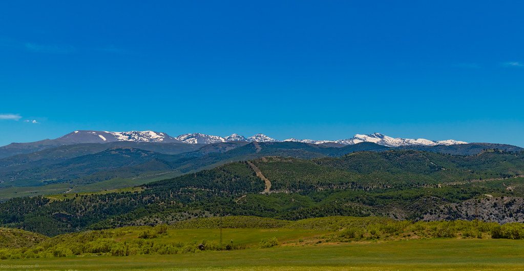 A very warm 31c taking a pic of the Snow capped Sierra Navada Mountain Range 19/05/2021