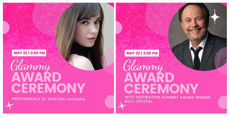 GlamourGals' Glammy Scholarship Awards - Kristina Lachaga & Billy Crystal