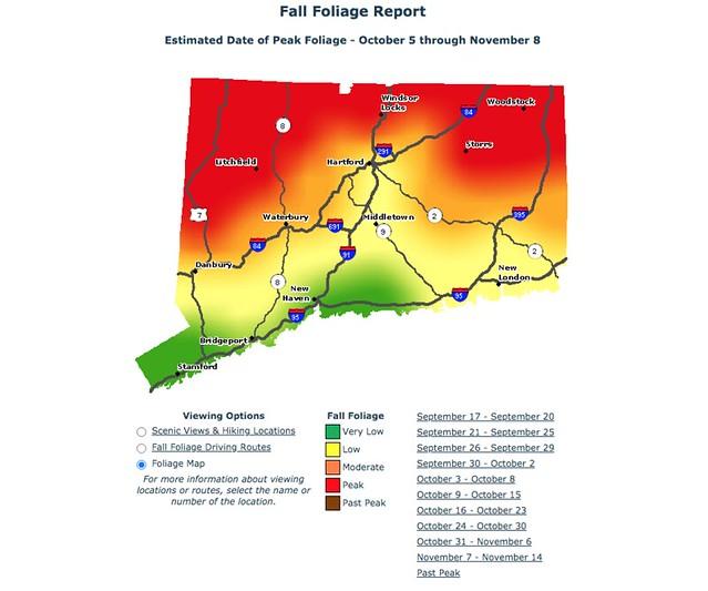 Peak Foliage in CT - October 9-15