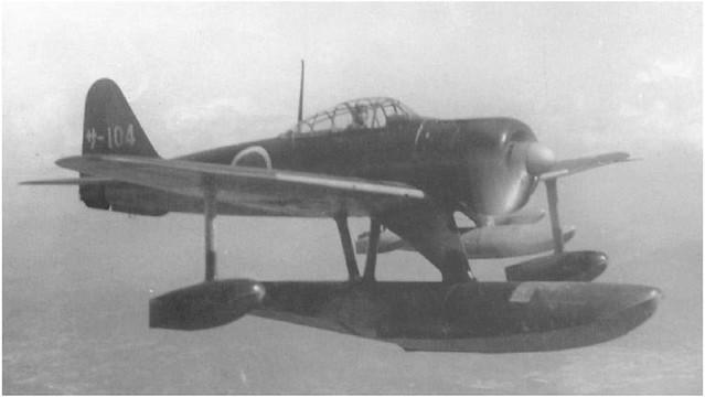 "Nakajima A6M2-N ""Rufe"" from the Sasebo Air Group in flight"