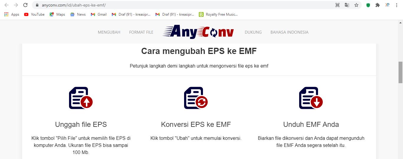 Website AnyConv untuk Convert Vektor
