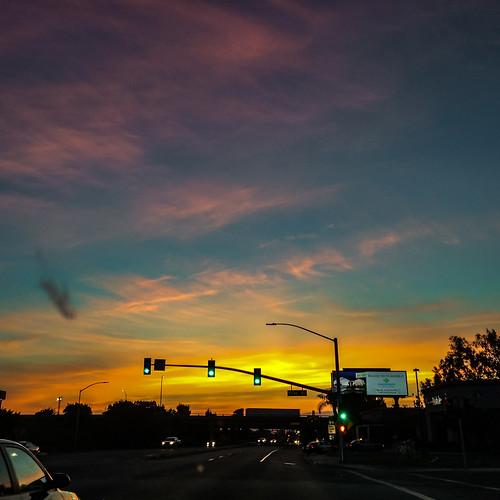 america bakersfield california kerncounty usa unitedstates cloud drivebyphotography iphoneography jfflickr phoneshot photosbydavid plant postedonflickr sign signallight sky sunrise text transportation tree vehicle